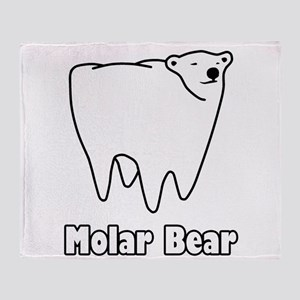 Molar Bear Polar Tooth Bear Throw Blanket