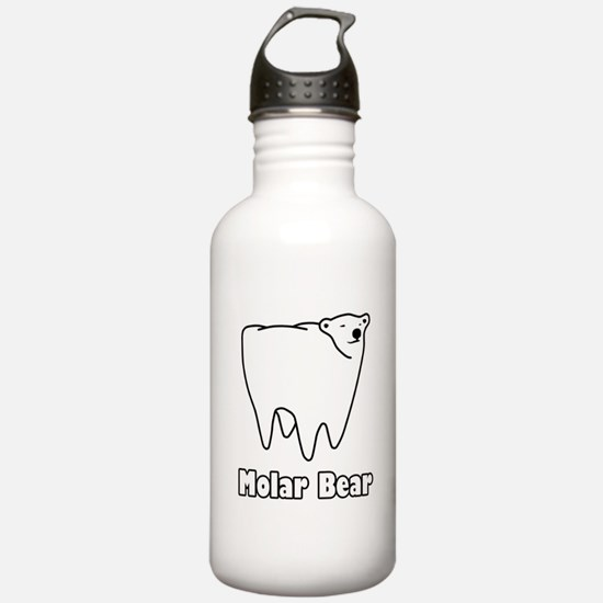 Molar Bear Polar Tooth Bear Water Bottle