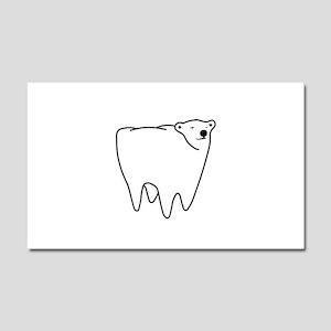 Molar Bear Polar Tooth Bear Car Magnet 20 x 12