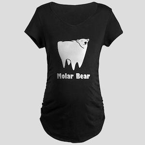 Molar Bear Polar Tooth Bear Maternity T-Shirt