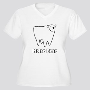 Molar Bear Polar Tooth Bear Plus Size T-Shirt