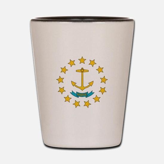 Rhode Island flag Shot Glass