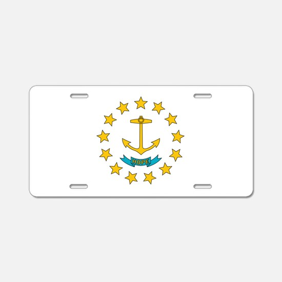 Rhode Island flag Aluminum License Plate