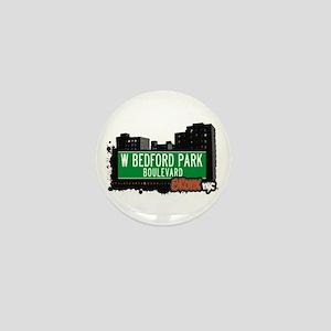 W Bedford Park Blvd, Bronx, NYC Mini Button