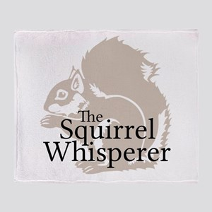 The Squirrel Whisperer Throw Blanket