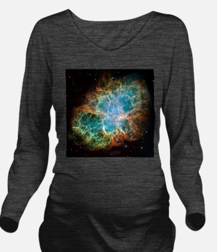 Crab Nebula (High Res) Long Sleeve Maternity T-Shi