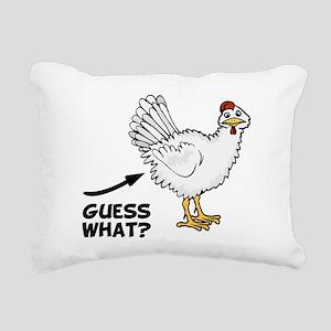 Guess What Chicken Butt Rectangular Canvas Pillow