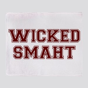 Wicked Smart (Smaht) College Throw Blanket