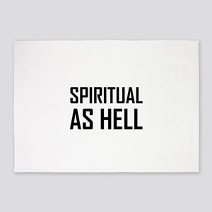 Spiritual As Hell 5'x7'Area Rug