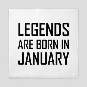 Legends Are Born In January Queen Duvet