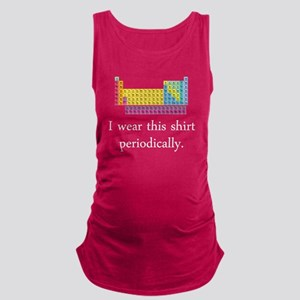 I Wear This Shirt Periodically Maternity Tank Top