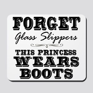 This Princess Wears Boots! Mousepad