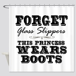 This Princess Wears Boots! Shower Curtain