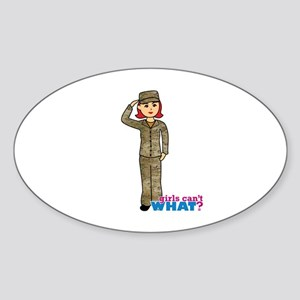 Air Force Camo Light/Red Sticker (Oval)