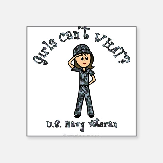 Light Navy Veteran (Blue Camo) Sticker