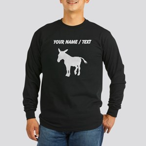 Custom Donkey Silhouette Long Sleeve T-Shirt