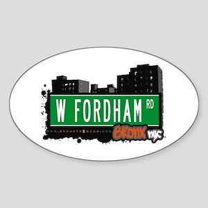 W Fordham Rd, Bronx, NYC Oval Sticker