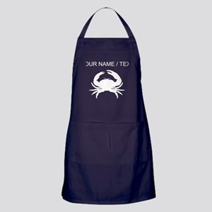 Custom Crab Silhouette Apron (dark)