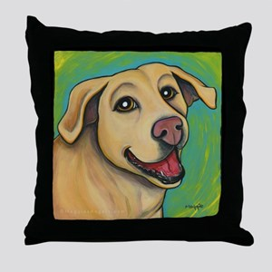 Yellow Lab Sophie Throw Pillow