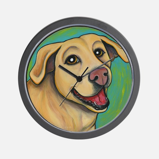 Yellow Lab Sophie Wall Clock