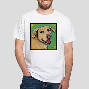 Yellow Lab Sophie White T-Shirt