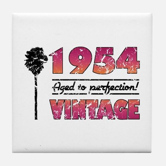 1954 Vintage (Palm Tree) Tile Coaster