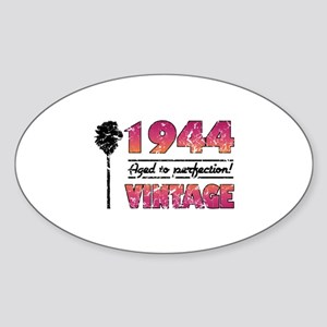 1944 Vintage (Palm Tree) Sticker (Oval)