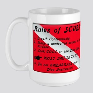 Rules of SCUBA Large Mug