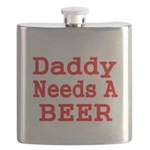 DADDY NEEDS A BEER 2 Flask