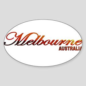 Melbourne, Australia Oval Sticker