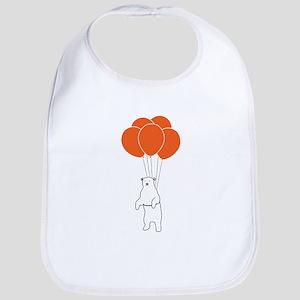 Flying Polar Bear with Birthday Balloons Bib