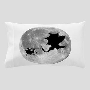 Santa Claus Dragon Rider Sleigh Ride Pillow Case