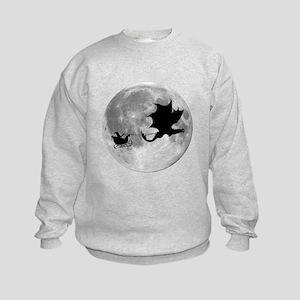 Santa Claus Dragon Rider Sleigh Ride Sweatshirt