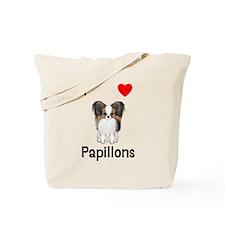 I Love Papillons (pic) Tote Bag