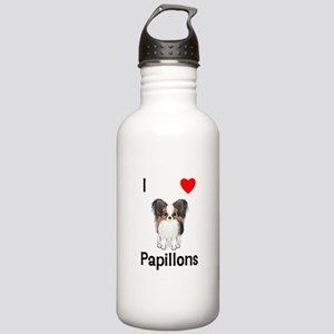I Love Papillons (pic) Stainless Water Bottle 1.0L