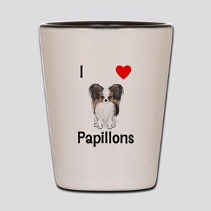 I Love Papillons (pic) Shot Glass