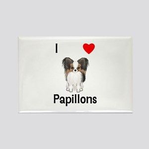 I Love Papillons (pic) Rectangle Magnet