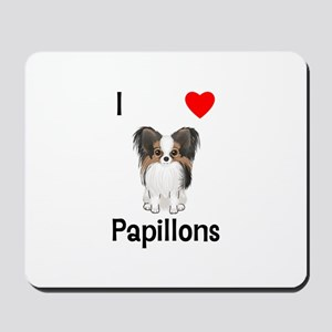 I Love Papillons (pic) Mousepad