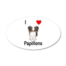 I Love Papillons (pic) Wall Decal