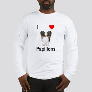 I Love Papillons (pic) Long Sleeve T-Shirt