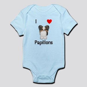 I Love Papillons (pic) Infant Bodysuit