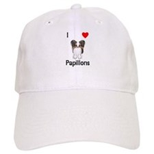 I Love Papillons (pic) Cap