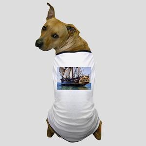 HMS Bounty Tall Ship Dog T-Shirt