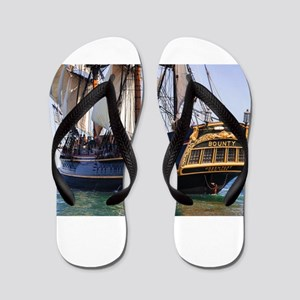 HMS Bounty Tall Ship Flip Flops