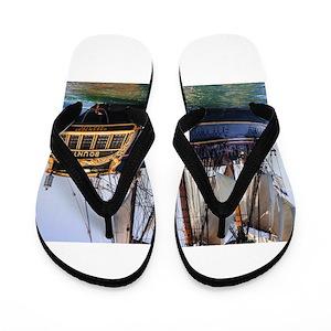 76a442cd036f Tall Ship Flip Flops - CafePress