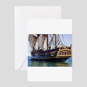 HMS Bounty Tall Ship Greeting Cards