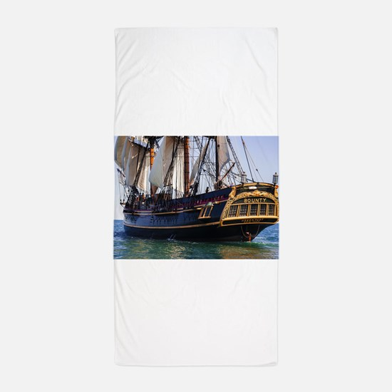 HMS Bounty Tall Ship Beach Towel