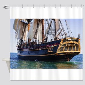 HMS Bounty Tall Ship Shower Curtain