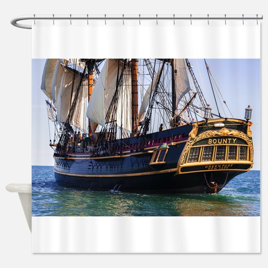 HMS Bounty Tall Ship Shower Curtain