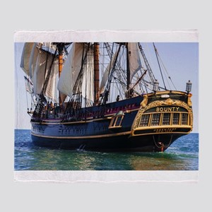HMS Bounty Tall Ship Throw Blanket
